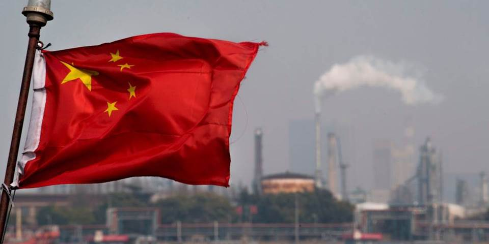 chinese flag oil refinery