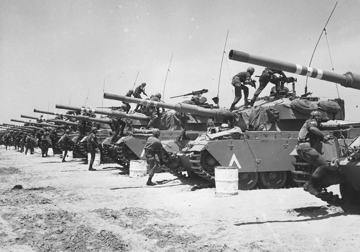 Six Day War Israeli Tanks