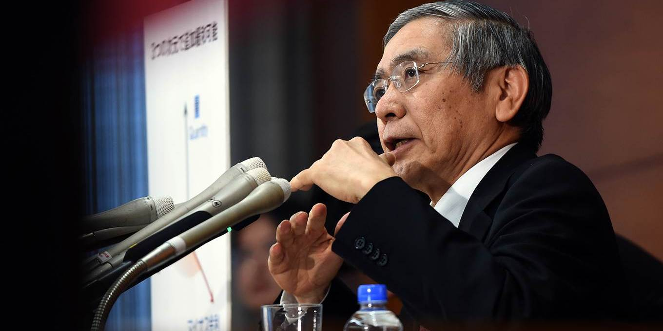 Governor of the Bank of Japan Haruhiko Kuroda