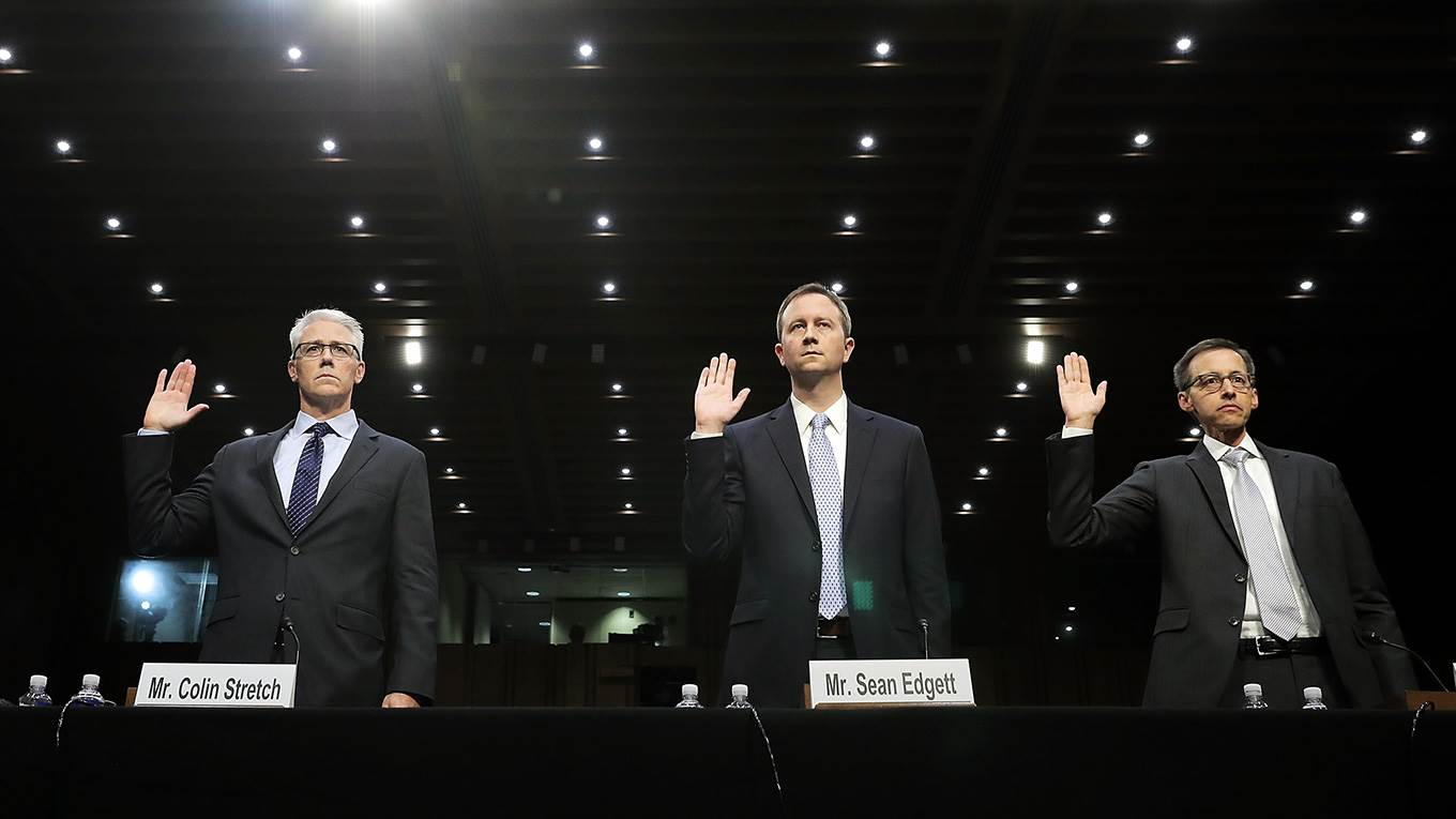 Facebook, Google and Twitter executives testify before congress