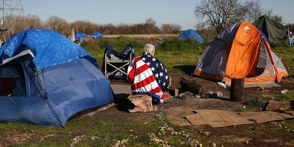 homeless people tent city usa