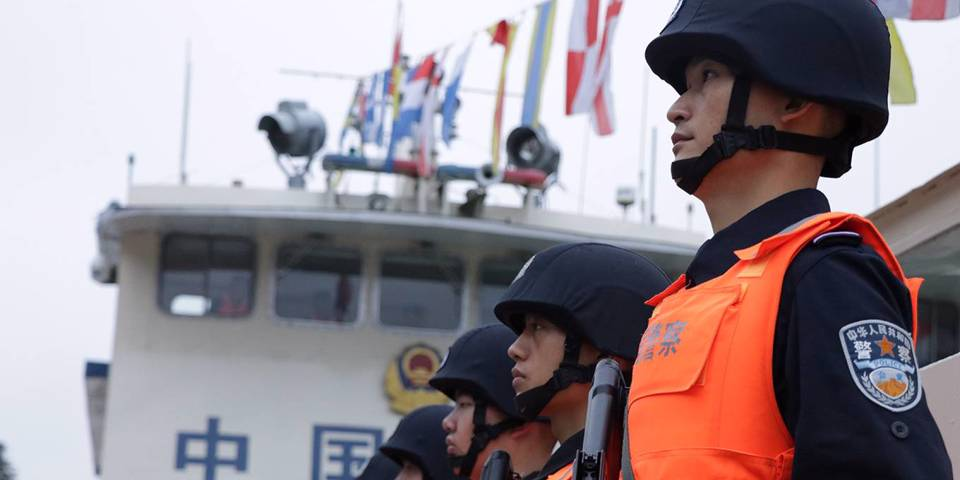 chellaney119_Wu HanXinhua via Getty Images_chinamekongdeltapolice