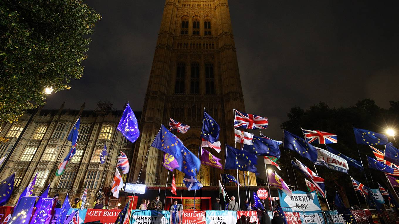 patten108_Jonathan BradyPA Images via Getty Images_UKflagsparliamentbrexit