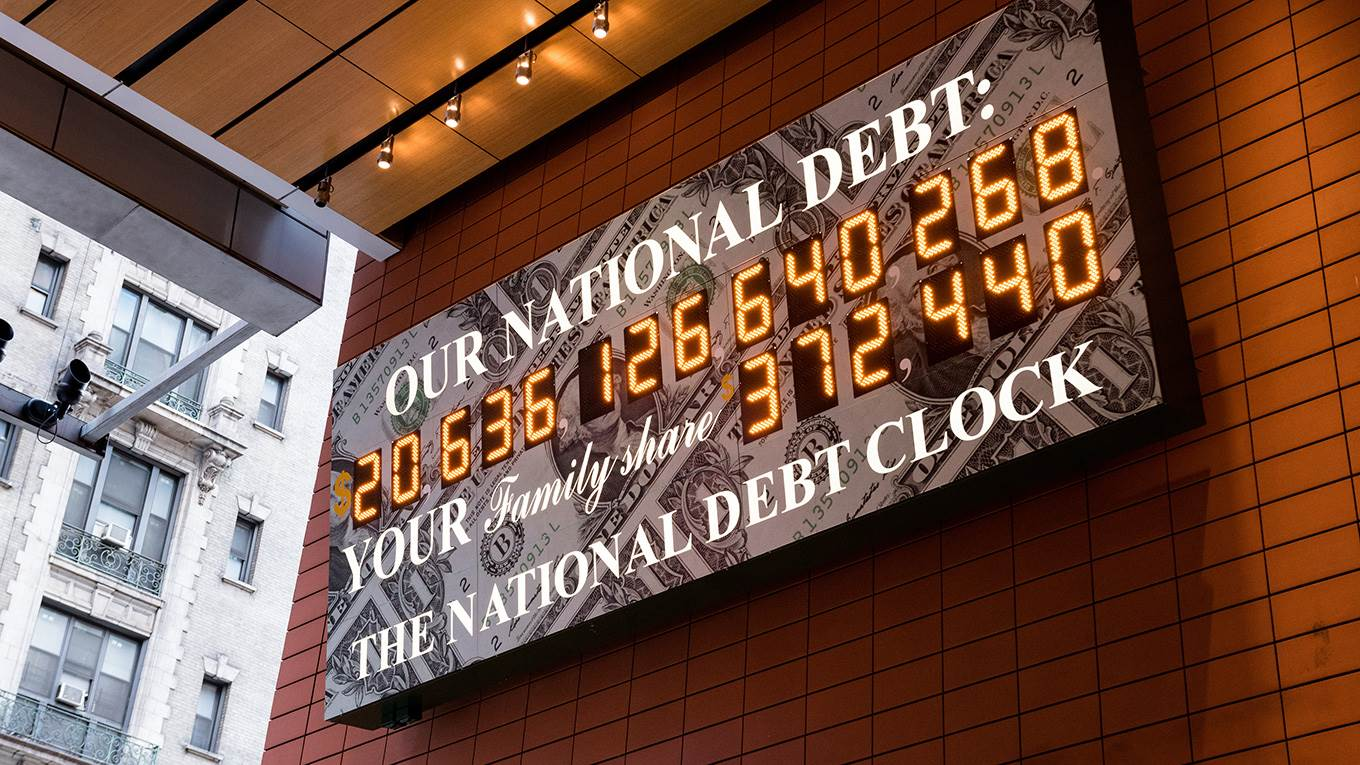 The National Debt Clock is a very very large digital display of the current gross national debt of the United States