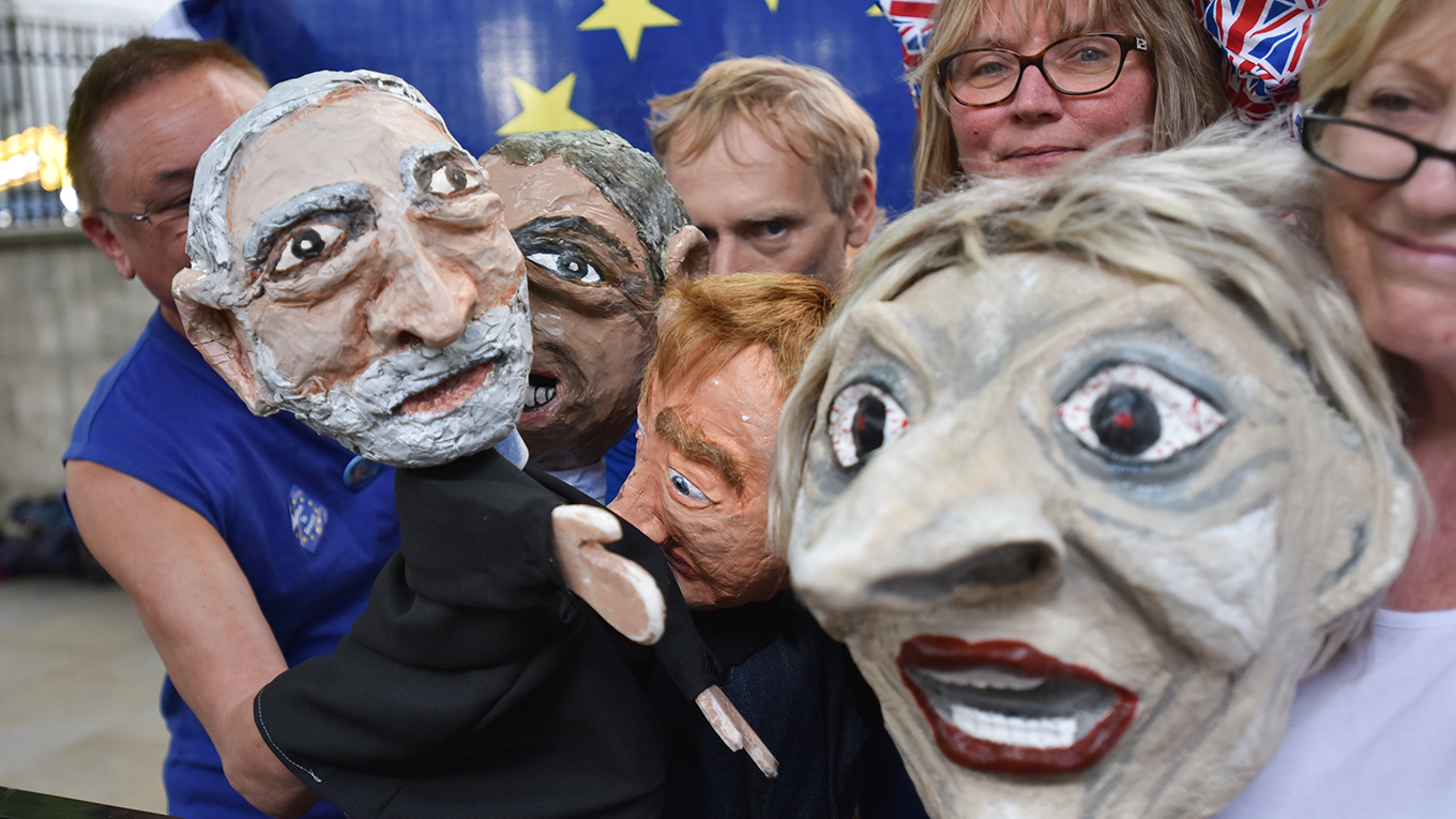 Puppets of UK politicians