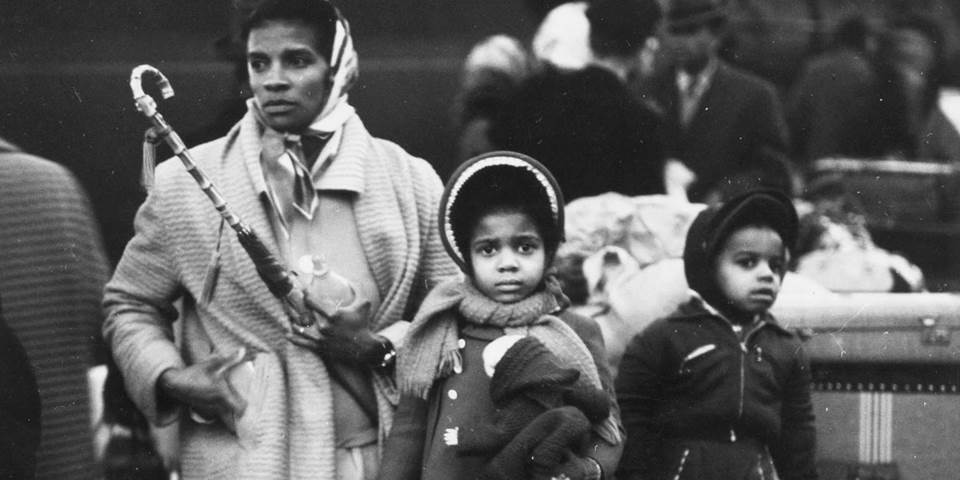 A family of West Indian immigrants arrive to Britain