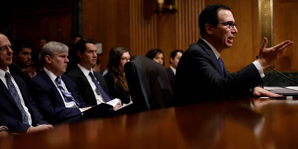: Treasury Secretary Steven Mnuchin testifies before the Senate Finance Committee
