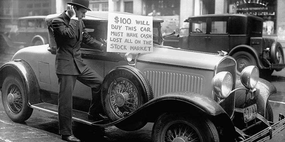 old car stock market crash
