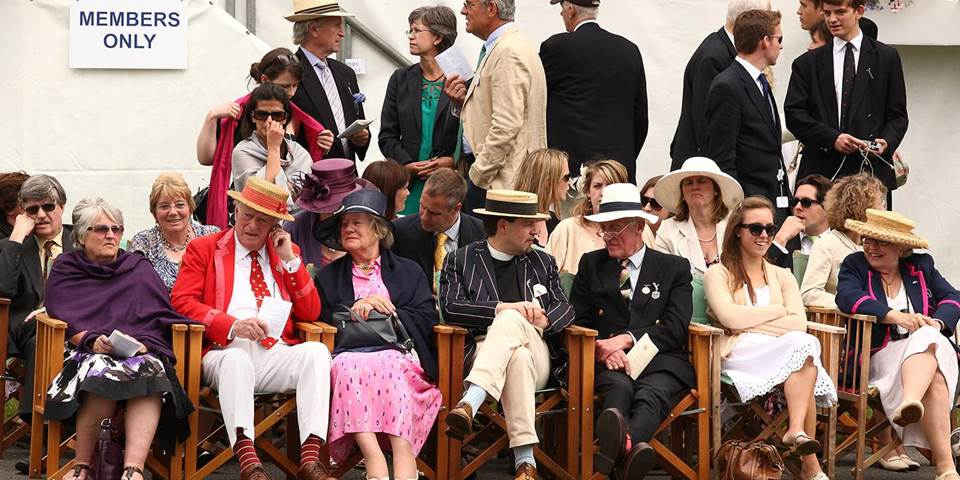Spectators watch the Henley Royal Regatta