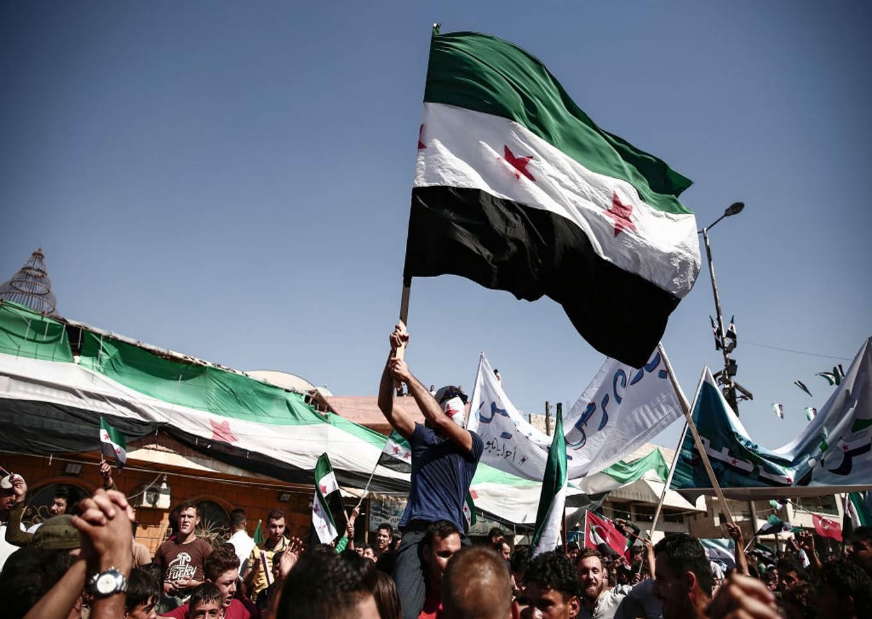 Syrian Opposition Flag Demo