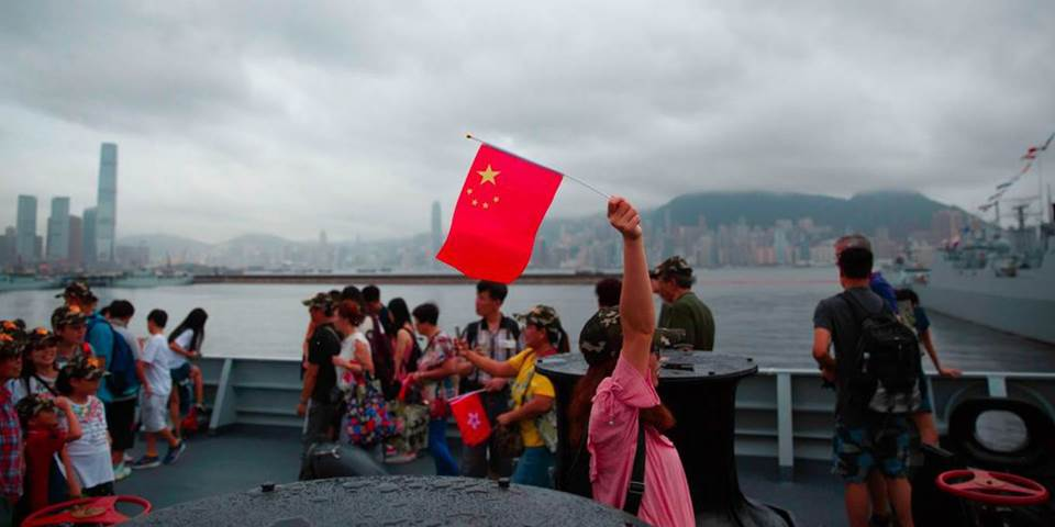 tourist chinese flag