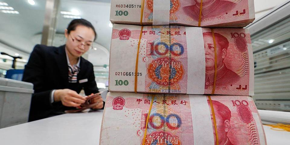 stack of renminbi notes