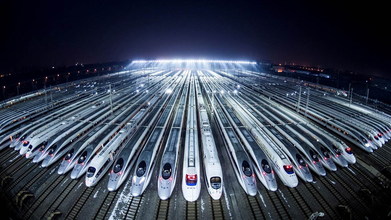 Americas weak case against china by stephen s roach project high speed trains wait to be maintained in wuhan central chinas hubei province gumiabroncs Images