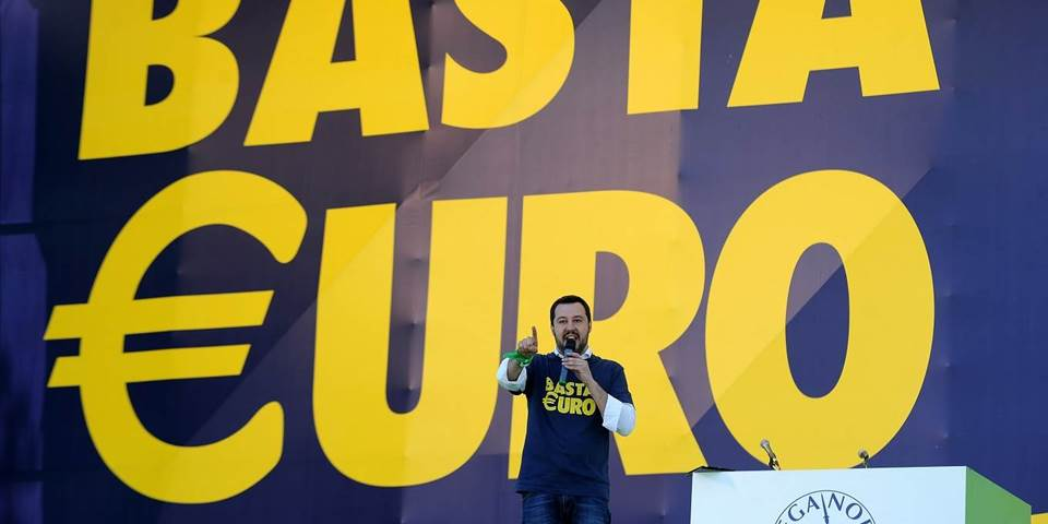 Matteo Salvini speaks at the annual Northern League Meeting